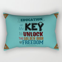 Lab No.4 - Education Is The Key To Unlock - George Washington Carver Inspirational Quotes poster Rectangular Pillow