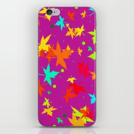 Forever Autumn Leaves purple 4 iPhone Skin
