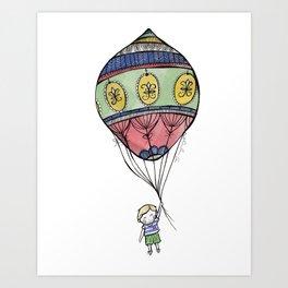 Boy with a Balloon Art Print