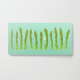 Asparagus Say Hi! Metal Print