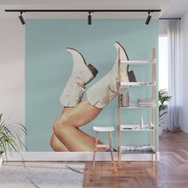 These Boots - Blue Wall Mural