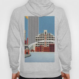 Rochester, New York - Skyline Illustration by Loose Petals Hoody