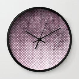 edgy halftone pattern // pink Wall Clock