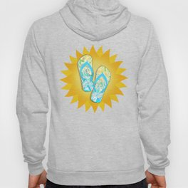 Summer Beach Days Abstract -  Yellows And Blues Hoody