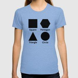 Basic Shapes (Square, Triangle, Circle, Pentagon) T-shirt