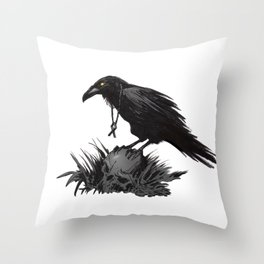 Death Poetry Throw Pillow
