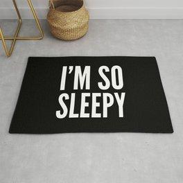 I'M SO SLEEPY (Black & White) Rug