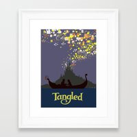 tangled Framed Art Prints featuring Tangled by TheWonderlander