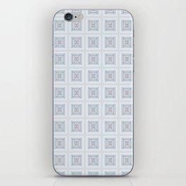 Modern Life Pattern Mauve Blue iPhone Skin