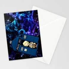 Tardis in space Doctor Who 5 Stationery Cards