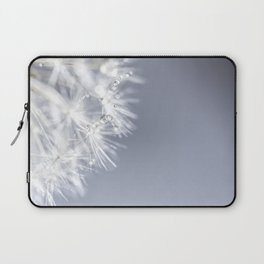 Sparkling dandelion with droplets - Flower water Laptop Sleeve