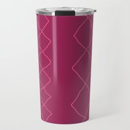 Moroccan Diamond Stripe in Magenta Travel Mug