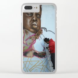 The Notorious B.I.G. Street Art Clear iPhone Case