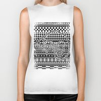 ethnic Biker Tanks featuring ethnic by jun salazar