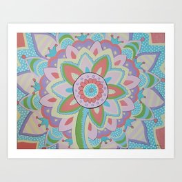 Summer Mandala Art Print