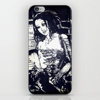 modern vampires of art history iPhone & iPod Skins featuring Vampires by Streetlight by Michael Duggan