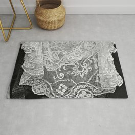 Vintage Romantic Lace Crochet Tablecloth Hanging Laundry Rug