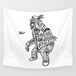 King Kong Black and White Wall Tapestry