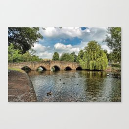 5 Arches of Bakewell Bridge Canvas Print