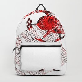 Explorer Schematic Red on White Backpack