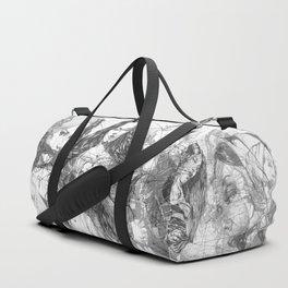 SOLVE ET COAGULA. Composition. Ladies. Damascus. Triptych.  Illustration. INK ART. Yury F Duffle Bag