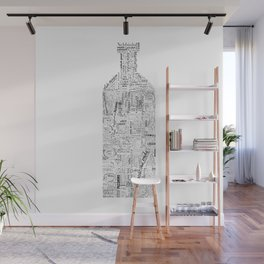 Drinks Full Tag Cloud Wall Mural