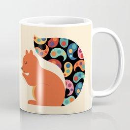Paisley Squirrel Coffee Mug