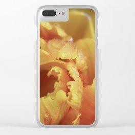 Orange Tulip Three Clear iPhone Case