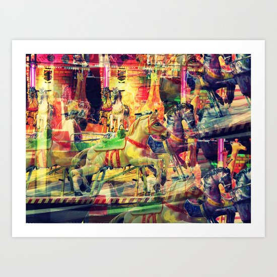 magical ride Art Print