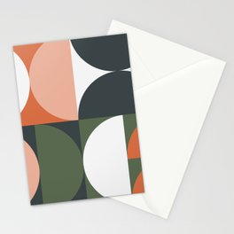Mid Century Geometric 15 Stationery Cards