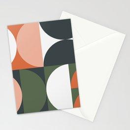 Mid Century Geometric 15 Stationery Cards