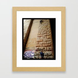 Keep Climbing Framed Art Print