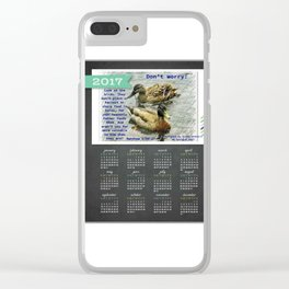Don't worry, God cares for the birds, bible verses, 2017 Calendar Clear iPhone Case