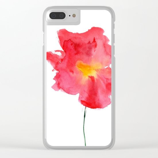 Dream big || watercolor flower Clear iPhone Case