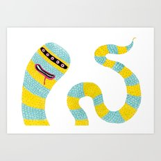 The Happy Worm Art Print
