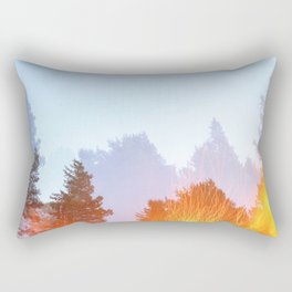 Trees by the fire Rectangular Pillow