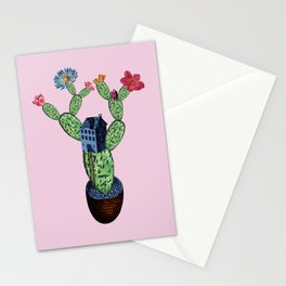 My prickly cactus safe house Stationery Cards