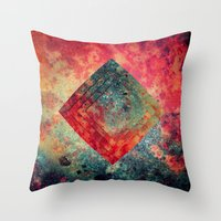 square Throw Pillows featuring Random Square by Esco