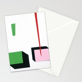 Squares in line Stationery Cards