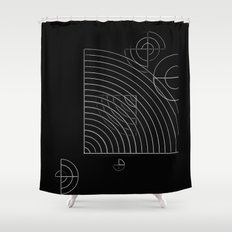 geometric abstract - black and white Shower Curtain