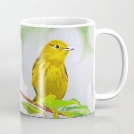 Yellow Warbler bird painting Coffee Mug