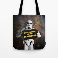 storm trooper Tote Bags featuring Storm Trooper by ZeebraPrint