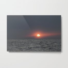 Sunset open sea Metal Print