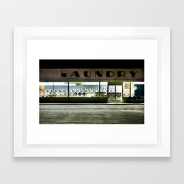 24h laundry Framed Art Print
