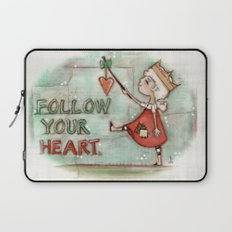 Follow Your Heart - by Diane Duda Laptop Sleeve