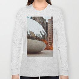 Chicago Bean - Big City Lights Long Sleeve T-shirt