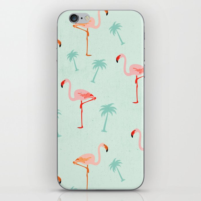 Vintage Flamingos iPhone Skin