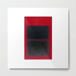 1957 Light Red Over Black by Mark Rothko Metal Print