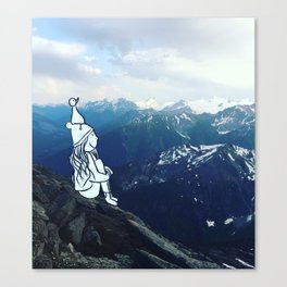 mountain girl Canvas Print