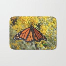 Monarch on Rubber Rabbitbrush Bath Mat